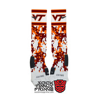 Custom Nike Elite Socks -  Virginia Tech Hokies Custom Nike Elites, Virginia Tech Socks, Custom Elites, Hokies Socks, Virginia Tech Football