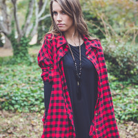 Holiday Cheer Flannel in Red/Black