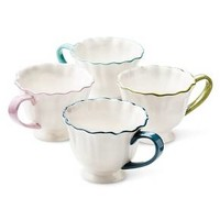Boho Boutique Isabella Ruffle Mug - Set of 4 : Target