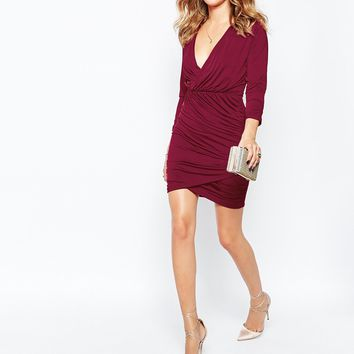 Millie Mackintosh Wrap Dress in Red