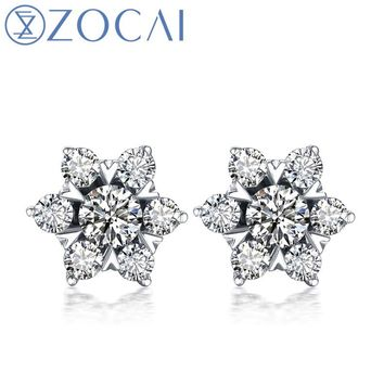 18KT Gold Super Star Natural 0.4 CT Certified Diamond Stud Earrings