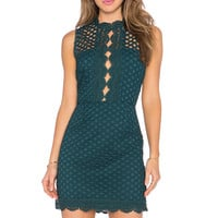 SAYLOR Stella Dress in Emerald