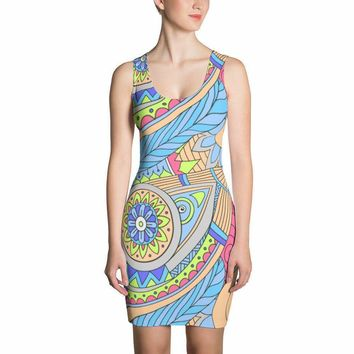 ART DRESS - Bold Beautiful Truly Unique * Fun Art Swashes - FESTIVAL