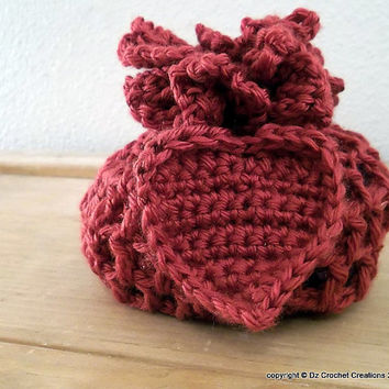 CROCHET PATTERN Drawstring  Bag Pouch (2 Sizes included) INSTANT Download / Crochet Pattern Pouch / Drawstring Crochet Bag / Pattern / Bag