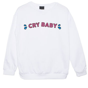 CRY BABY SWEATER JUMPER TOP WOMENS KAWAII CUTE FUN – Minga London