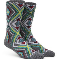 On The Byas Diamond Pattern Crew Socks - Mens Socks - Grey - One