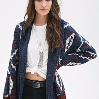 Multi Color Tribal Pattern Knitted Cardigan