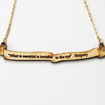 $19.99 The Little Prince Quote Necklace by iluxo on Etsy