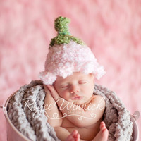 Pink Bell Hat Baby Newborn Crochet Photography Prop