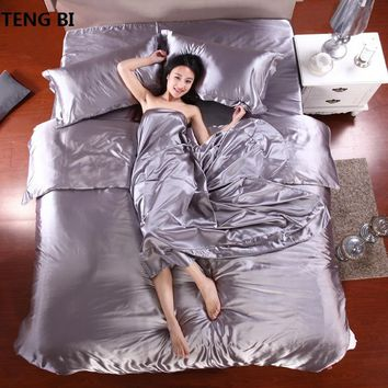 Cool sell like hot cakes Bedding set 2018 New Style Bedding  Silk Frozen Quilt Set  Piece Set  Bed Pillow Case , King Queen twin SizeAT_93_12