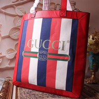 Beauty Ticks Gucci Women's 2018 New Style Cloth And Leather Tote Bag #2956