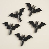 Wood Bat Clips, Set of 6