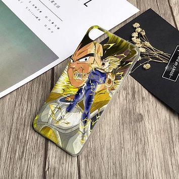 Dragon Ball Z Vegeta Anime Phone Case Cover Shell For iPhone 4 4s 5 5s Se 6 6Plus 6s 6sPlus 7 Plus 8 8Plus X