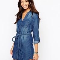 New Look Denim Shirt Dress at asos.com