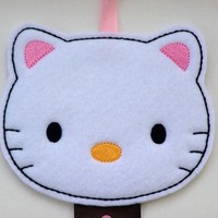 Kitty Hair Clip Barrette Bow Holder Hanger Organizer