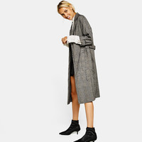 Long tailored trench coat - Coats - Bershka United States