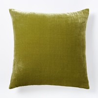 Luxe Velvet Square Pillow Cover - Citron