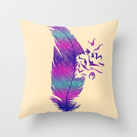 Breakaway Throw Pillow by Pink Berry Pattern