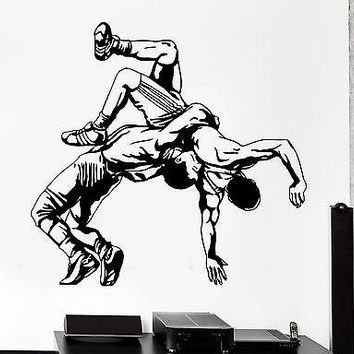 Wall Sticker Sport Wrestling Fighting Fighter Martial Arts Vinyl Decal Unique Gift (z3017)