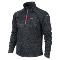 Nike Element Jacquard Tiger Print Half-Zip Girls' Running