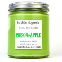Poison Apple Scented Soy Candle - 8 oz. jar - Snow White - Green Apple