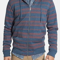 Quiksilver 'Brodes' Fleece Lined Stripe Zip Hoodie