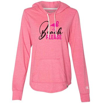 Beach Please - Womens Champion Brand Hoodie - Hooded Sweatshirt
