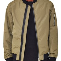 The Idle Man Astrid Bomber Jacket Green