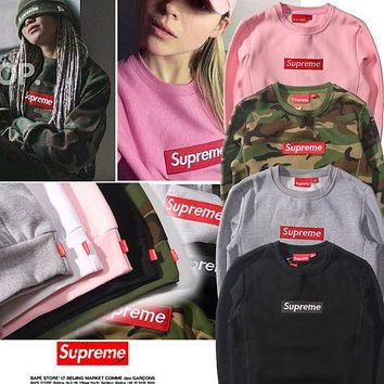 Camo Supreme Fashion Casual Round Neck Long Sleeve Pullover Sweathshirt G