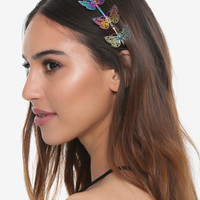 Oil Slick Anodized Butterfly Headband