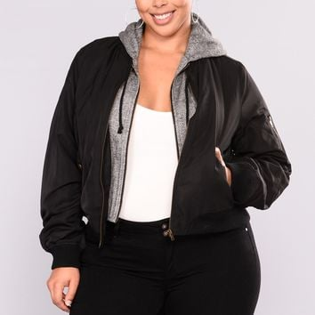 Know The Name Bomber Jacket - Black