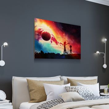 R&M Colorful Planet Wooden Wall Decor