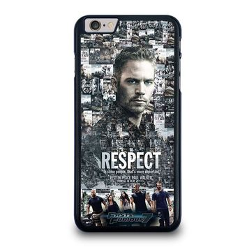 FAST FURIOUS 7 PAUL WALKER iPhone 6 / 6S Plus Case Cover