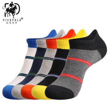 Calcetines Hombre The New Spring And Summepier Polor Men 's Ship Socks Mixed Colors Of Cotton Short Manufacturers Wholesale