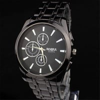 Mens Retro Style Black Watch Best Christmas Gift