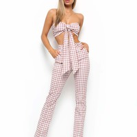 Buy Our Carrie Pant in Pink Check Online Today! - Tiger Mist