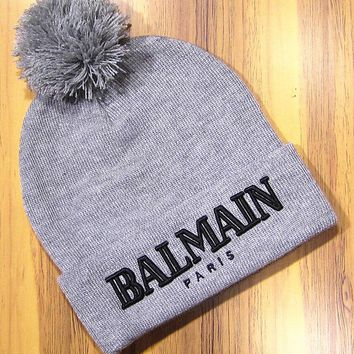 Perfect Balmain Hip Hop Women Men Beanies Winter Knit Hat Cap