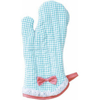 Jessie Steele Oven Mitt Yarn-Dye Blue & White Gingham