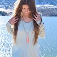 Fall Like A Feather Tunic Mint