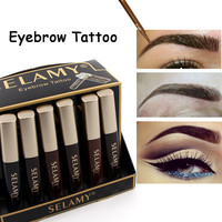 SELAMY Brand Waterproof Henna Eyebrows Makeup Black Brown Eye Brow Tint Tattoo Eyebrow Enhancers Make Up Pencils