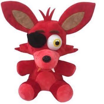 """New Arrive Five Night at Freddy's 10"""" Plush Nightmare Fox - Red"""