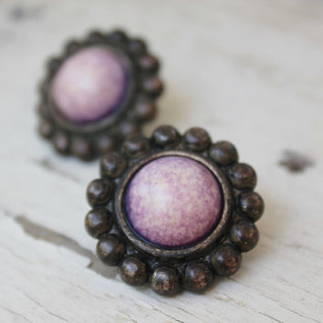 Purple Earrings, Lavender Post Earrings