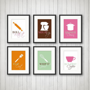 Kitchen Decor - Kitchen Wall Art, Kitchen Print, Kitchen Art, Funny Kitchen Art, Choose Colors, Size