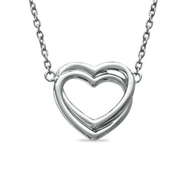 Entwined Heart Necklace in Sterling Silver