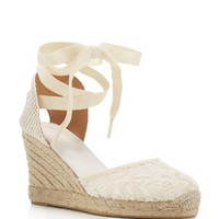 SoludosLace Ankle Tie Espadrille Wedge Sandals