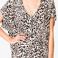 Animal Print Dolman Tunic | FOREVER 21 - 2021840311