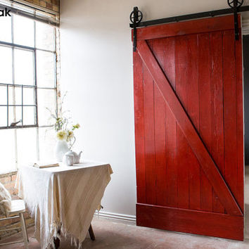 Barn Door- Classic Rustic Sliding Barn Z Door Custom Made