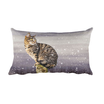 Legzo Rectangular Pillow - Perched Cat Pillow