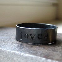 Rustic Mens Ring Personalized by tinahdee on Etsy