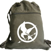 Hunger Games Backpack Mocking Jay white graphic